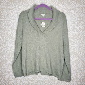 NWT J. Jill Green Cowl Neck Sweater L